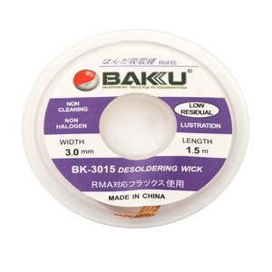Desoldering Wick BAKU BK 3015    , ((W) 3.0 mm, (L) 1.5 m)