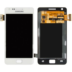 LCD for Samsung I9100 Galaxy S2 Cell Phone, (white, with touchscreen, original (change glass) )