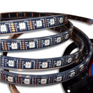 RGB LED Strip SMD5050, WS2813 (with controls, black, IP67, 5 V, 60 LEDs/m, 5 m)