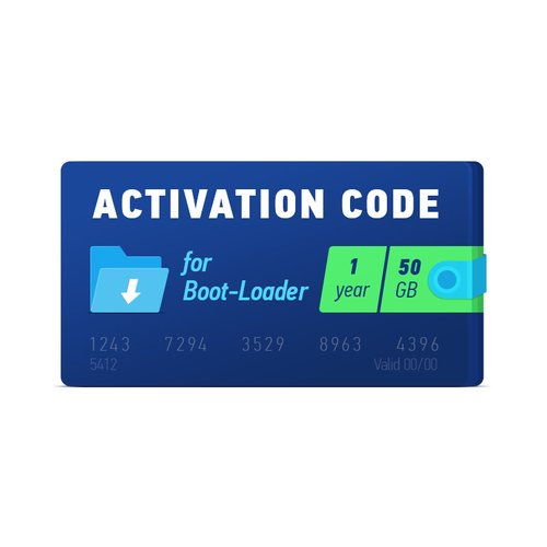 Boot-Loader 2.0 Activation Code (1 year, 50 GB)