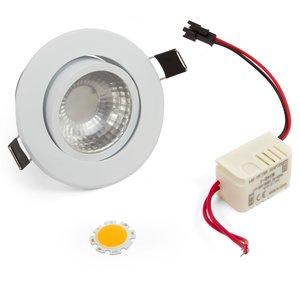 Комплект для сборки потолочного светильника COB 3 Вт (теплый белый)