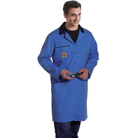 Антистатический халат Warmbier AM160, голубой 2618.AM160.B.S
