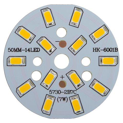 Плата зі світлодіодами 7 Вт теплий білий, 840 лм, 50 мм