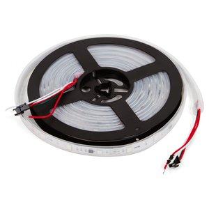 Світлодіодна стрічка RGB SMD5050, WS2811 (біла, з управлінням, IP67, 12 В, 60 діодів/м, 1 м)