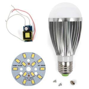 LED Light Bulb DIY Kit SQ-Q03 7 W (cold white, E27), Dimmable